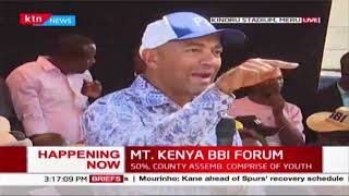 Peter Kenneth pushes for referendum during MT. KENYA BBI FORUM