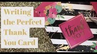 Writing the Perfect Thank You Card