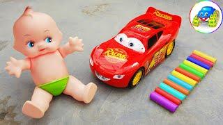 Repair And Fix Broken Toy Lightning Mcqueen Cars - Kid Studio
