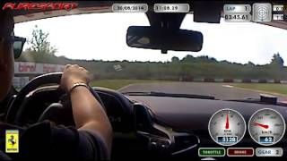 preview picture of video 'Test Ferrari 458 Italia con Puresport (Circuito di Viterbo)'