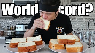 Peanut Butter & Jelly WORLD RECORD Challenge (1-Minute)