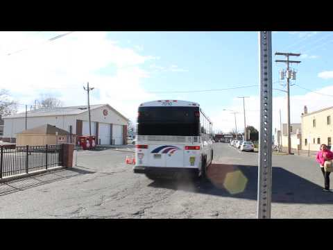 NJ TRANSIT BUS ACTION AT FREEHOLD CENTER CNG & DIESEL BUSES MCI