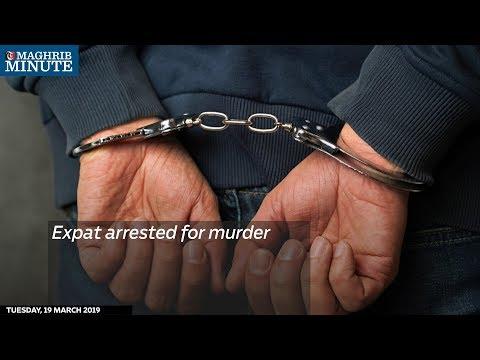 Expat arrested for murder