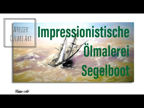 Segelschiff Ölbild Wandbild Handgemalt Neu Unikat Art. 416 | eBay
