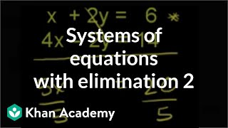 Addition Elimination Method 1