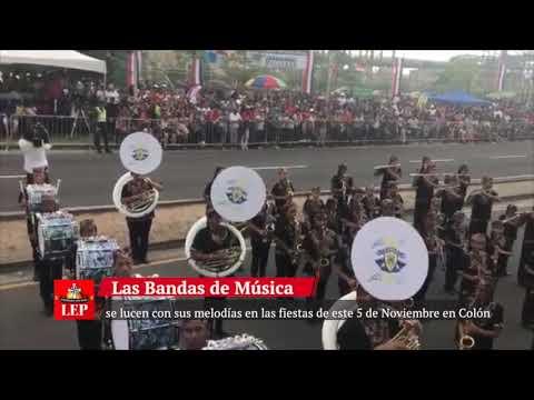 Bajo la lluvia inician los desfiles en Colón