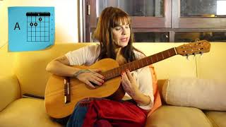 "Fabiana Cantilo te enseña a tocar ""Ya fue"" en guitarra"