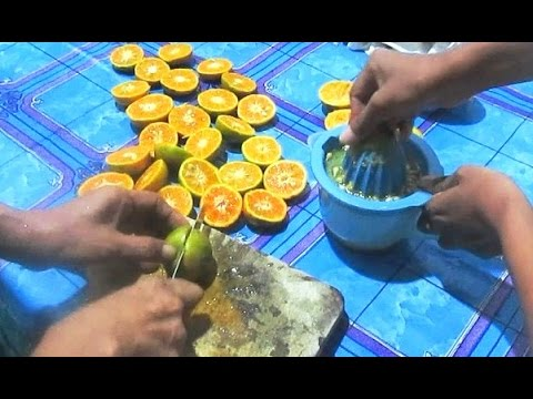 Video Making of Orange Juice - JUS JERUK | Indonesian Food