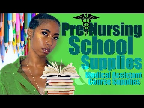 Pre-Nursing & Medical Assistant Course SCHOOL SUPPLIES ...