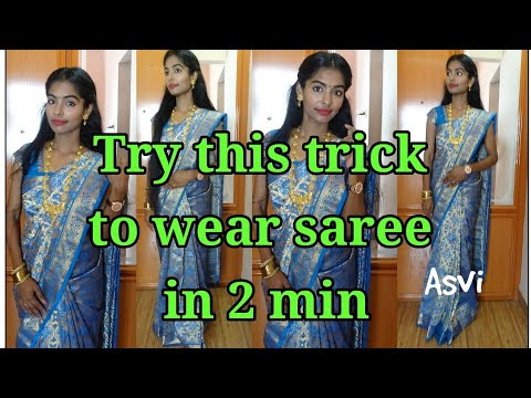 Try this TRICK to Get Perfect PLEATS|How to iron, pleat & fold a Saree For TRAVEL|Silk saree draping