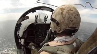 Полет съемка из кабины пилота.