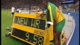 Usain Bolt new 100m world record: 9.58!!!