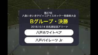 第27回八食いきいきチビッコアイスホッケー青森県大会Bグループ決勝