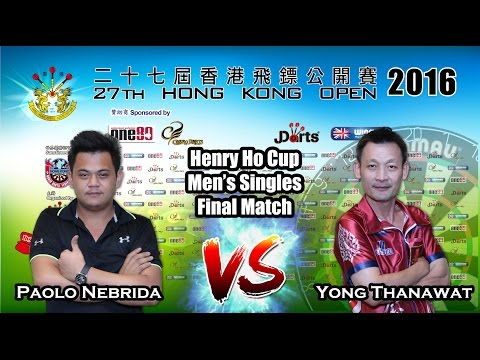 27th Hong Kong Darts Open 2016 Henry Ho Cup Men's Singles