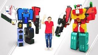 Видео для детей: Трансботы. Распаковка игрушек. Огромные трансформеры XL