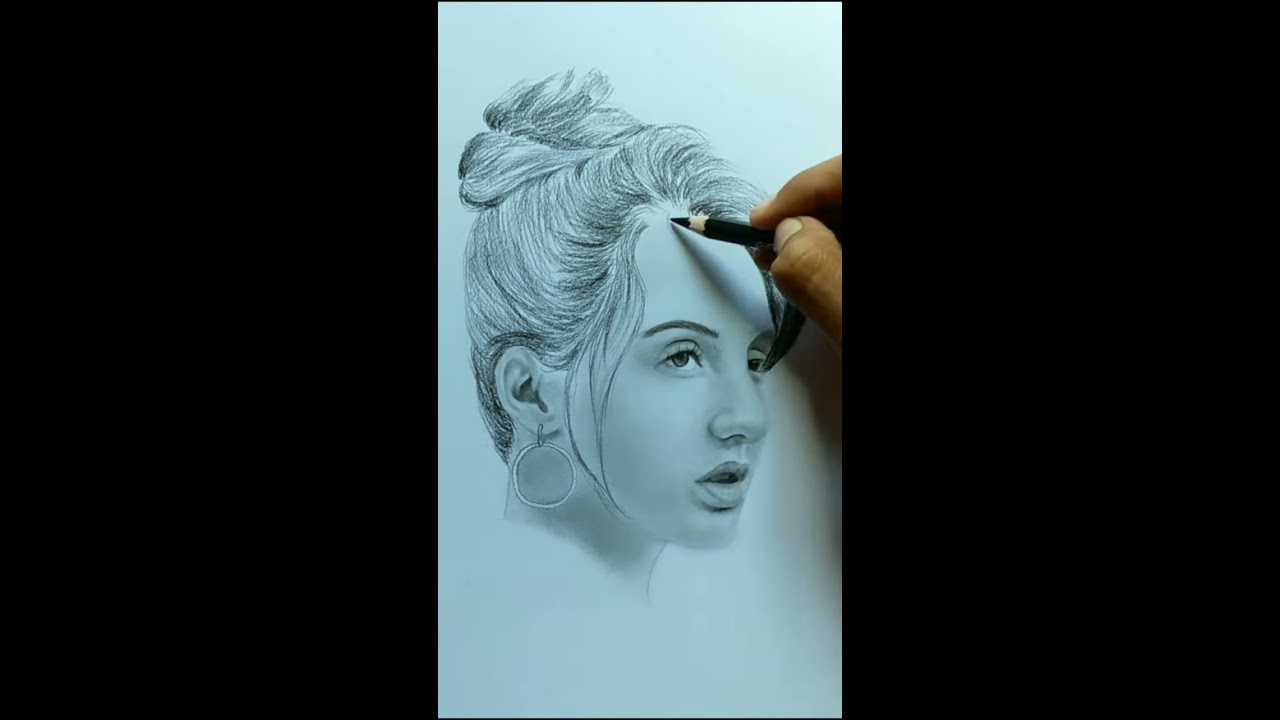portrait pencil drawing realistic celebrity nora fatehi by hiren mistry