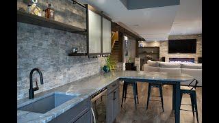 Basement Renovation: Bar, Home Gym, Living Area And Full Bathroom Remodel