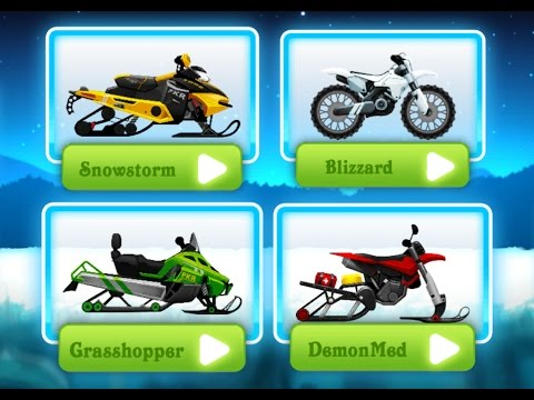Motocross Kids - Winter Sports / Snow Motorcycle Racing / Videos Games for Kids - Girls - Android