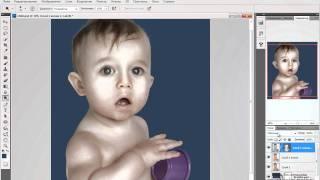 Photoshop, Обработка детского портрета в стиле Джилл Гринберг