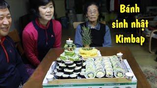 Lần đầu làm mâm kimbap siêu to, siêu sáng tạo (Cuộc sống Hàn Quốc)