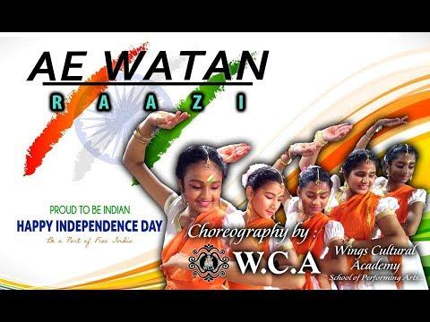Ae Watan | ZeeMusicCompany I RAAZI | Sunidhi Chauhan | WINGS CULTURAL ACADEMY