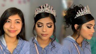 Quinceañera Glam 👑 | Makeup & Hair Tutorial | Makeup By Rosita