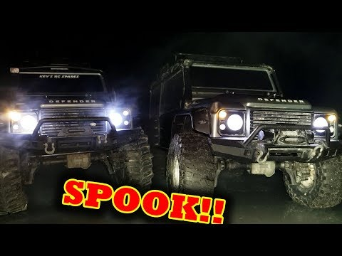 RC Night Crawling (Scary But FUN!!) Traxxas TRX-4 Defender Eddition