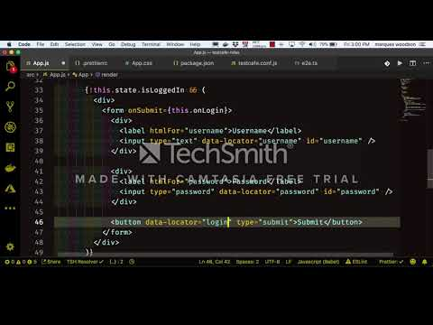 Authentication using TestCafe Roles - YouTube
