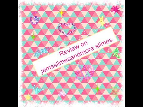 Review on Jemsslimesandmore slime #jemsslimesandmore #slimereview