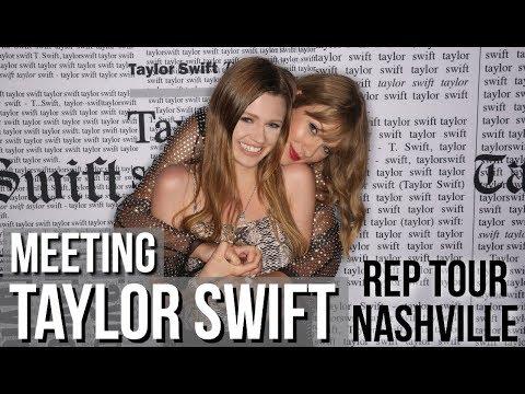 Meeting Taylor Swift in Rep Room! Reputation Tour Nashville Vlog!