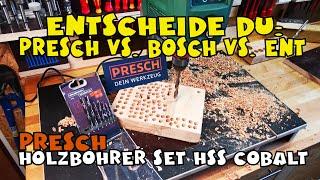 Hochleistungsbohrer: Presch Holzbohrer Set HSS Cobalt 8-tlg