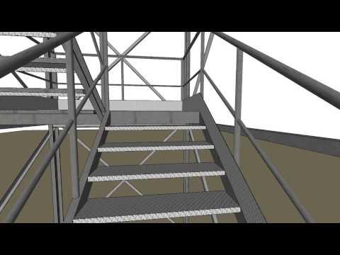 representacion escalera de incendio
