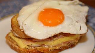 Смотреть онлайн Французский бутерброд крок-мадам: рецепт
