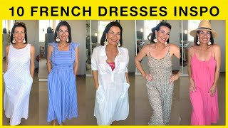 HOW TO STYLE 10 SUMMER DRESSES I French Lookbook Inspiration