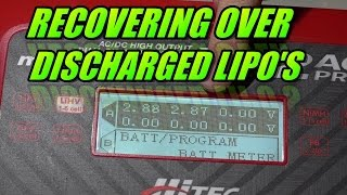 Recover Over Discharged Lipo Batteries