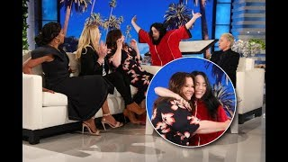 "Melissa McCarthy, who was joined by her ""The Kitchen"" co-stars Tiffany Haddish and Elisabeth Moss, talked about her love for Billie Eilish and the music video Melissa put herself in during her recent guest-hosting gig for Ellen. Since Melissa hadn't heard from the pop star directly about her thoughts on the video, Ellen decided to invite Billie to the show... with a scare.  #BillieEilish #MelissaMcCarthy #TheEllenShow"