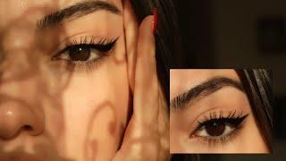 NASIL EYELİNER ÇEKİYORUM? 🔪  Gözü Çekik Gösteren Yarım Eyeliner + Eyeliner Sürme Teknikleri ✮