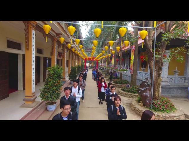 Flycam 4K Khoá Tu Sinh Viên Tháng 03/2017- Tại Chùa Khai Nguyên