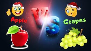 🍎 APPLE vs 🍇 GRAPES ⚡ Tasting Fun Food ⚡ by Fun Explorers