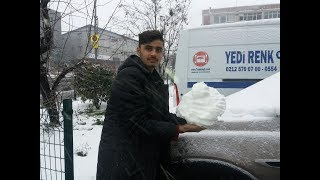 Snow falling in Istanbul || After a long Time snowfall in Istanbul city area