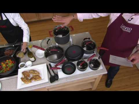 T-Fal 12-pc Hard Anodized Titanium NS Cookware Set on QVC
