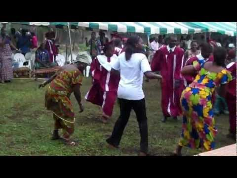Balafon Dance in Baptist Church Cote d'Ivoire