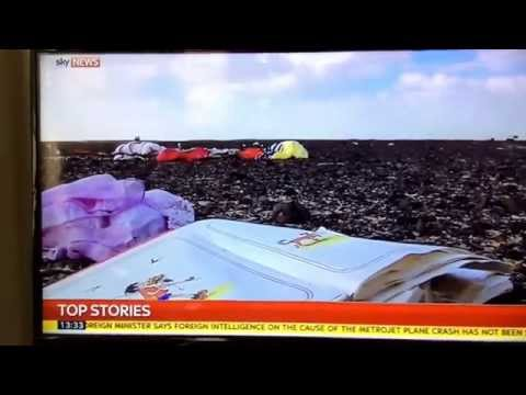 Egypt accusing other countries of failing to investigate Russian plane crash. Sky news reporting.