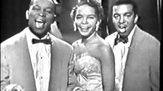 THE PLATTERS.  The Great Pretender.  1950's Live Kinescope.  Classic R&B / Doo-Wop