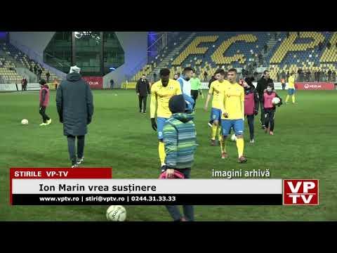 Ion Marin vrea susținere
