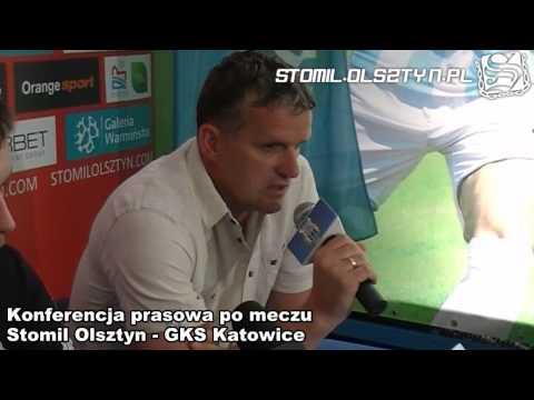 Konferencja prasowa po meczu Stomil Olsztyn - GKS Katowice
