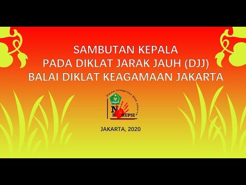 Sambutan DJJ 2020 oleh Kepala BDK Jakarta