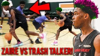 """""""Stop Talking SH*T!"""" Zaire Wade SHUTS UP Trash Talker And MAKES HIM SALTY In Pick Up Game!"""