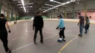 preview picture of video 'Stage slalom Roller Sport Périgueux 14 & 15 février 2015'