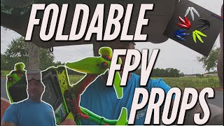 Foldable props for FPV freetsyle quads, DO THEY WORK? #FPV #GEMFAN
